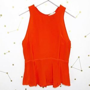 Amour Vert • Orange Silk Sleeveless Corine Blouse